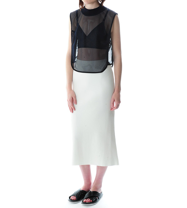 Nanushka Lin Sleeveless Crop Top