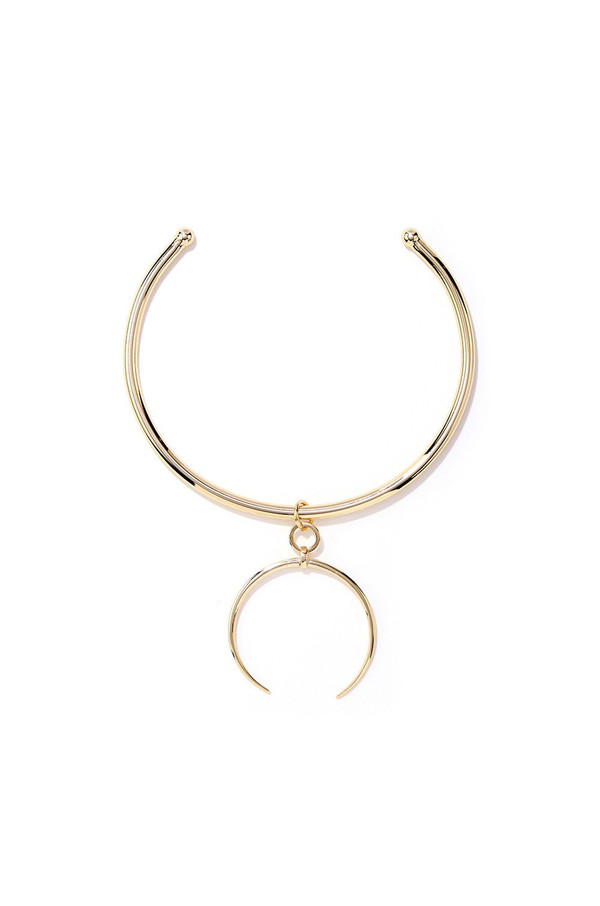 LUV AJ Gold Crescent Collar