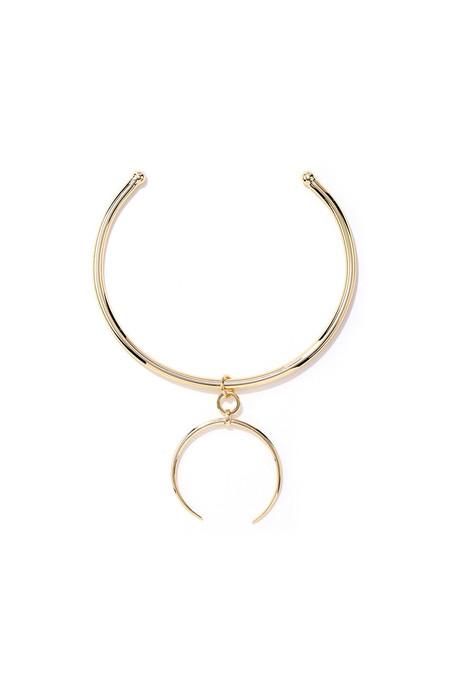 LUV AJ Gold Crescent Collar