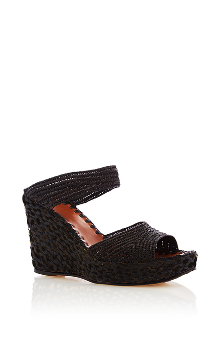 Carrie Forbes Raffia Aicha Wedge