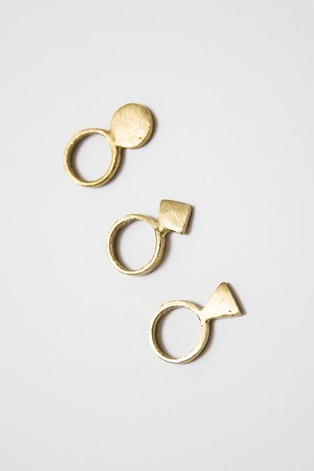 Osei-Duro Geo Ring - Set of 3