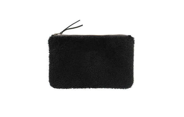 Primecut BLACK SHEEPSKIN CLUTCH