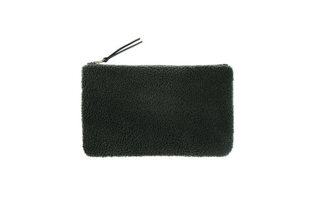 Primecut EMERALD GREEN SHEEPSKIN CLUTCH