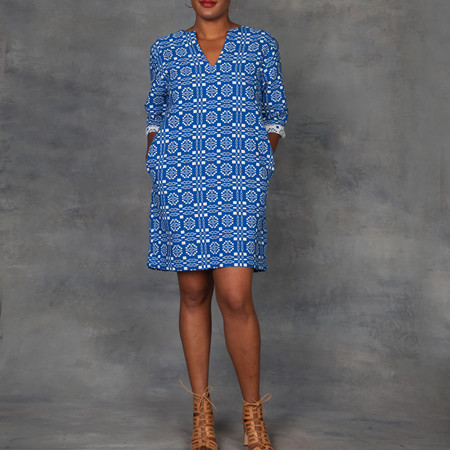 Ace & Jig Deck Dress in Blue Cardiff