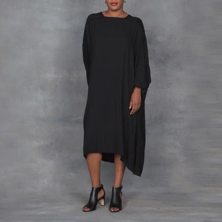 Black Crane Dome Dress in Black