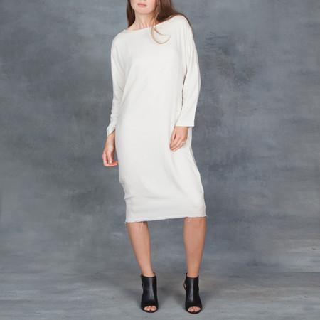 Black Crane Slim Dress in Cream