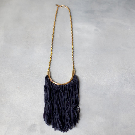 Erin Considine Lunate Fringe Necklace with Chain