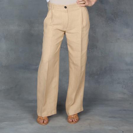 Giada Forte Linen Trousers in Grano