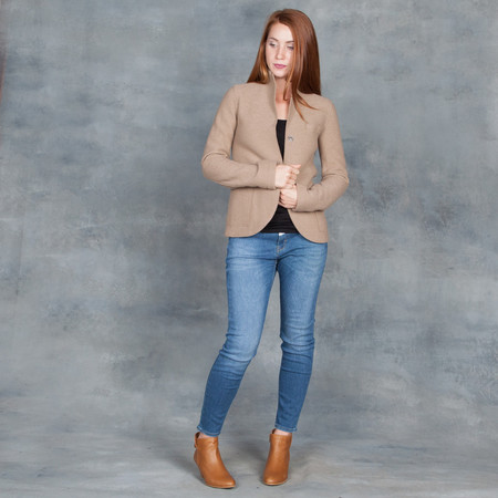 Harris Wharf London Boyfriend Jacket Camel