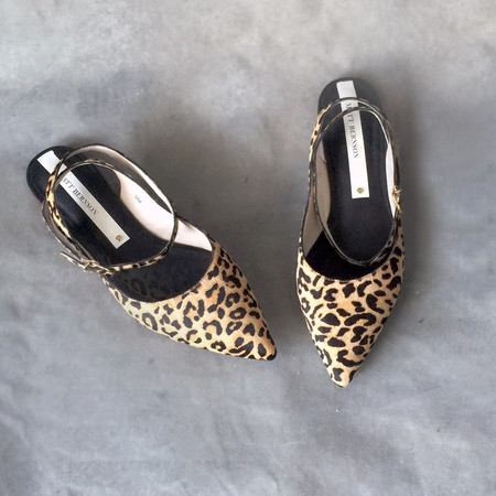 Matt Bernson Zola Cheetah Pony Hair Pointed Flats