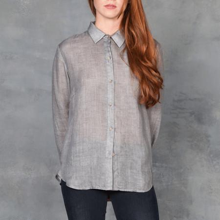 Obakki Grey Lightweight Notch Collar Button Up
