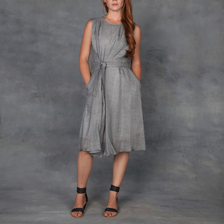 Obakki Lightweight Grey Dress with Tie