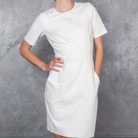 Obakki Sheath Dress with Short Sleeves