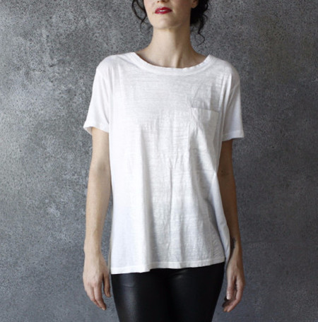 Raquel Allegra Perfect Tee Painted White