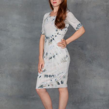 Raquel Allegra Short Sleeve Fitted Shirt Dress