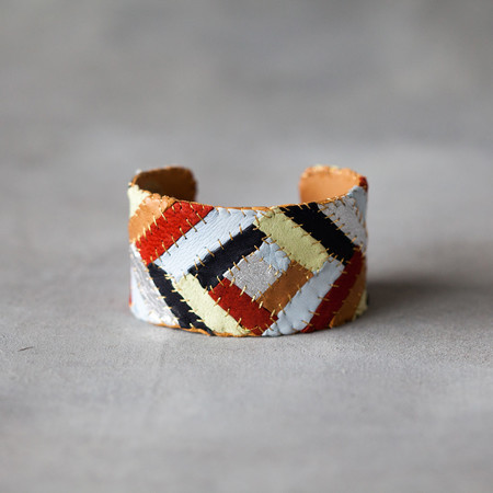 Robin Mollicone Large Patchwork Cuff