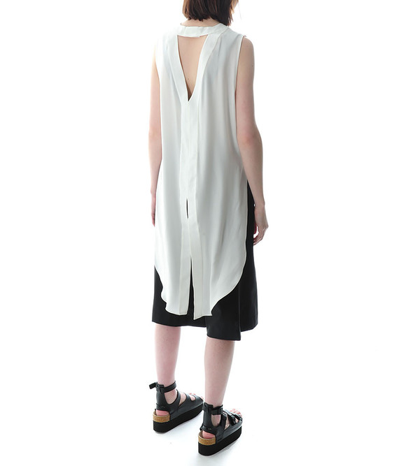 Public School Off-White Sleeveless Tunic