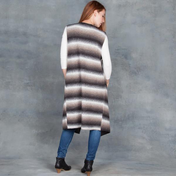 Tart Devin Vest in Dark Ombre Knitted Stripe