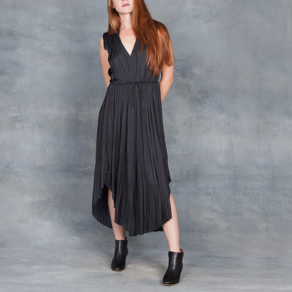 Ulla Johnson Tullia Dress in Black Raven