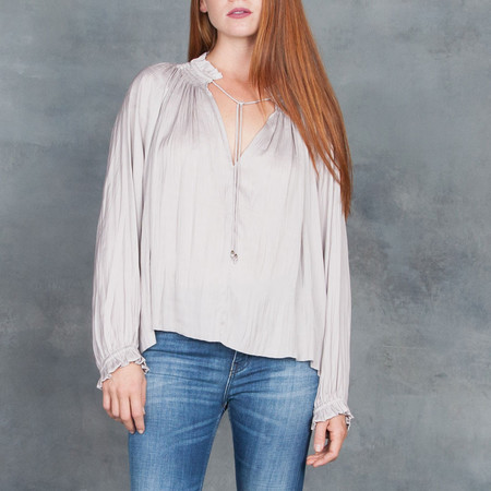 Ulla Johnson Rosamund Blouse in Mink
