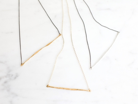 Slantt Organic Bar Necklace