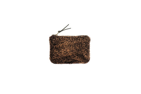 Primecut BLACK + GOLD SHEEPSKIN POUCH