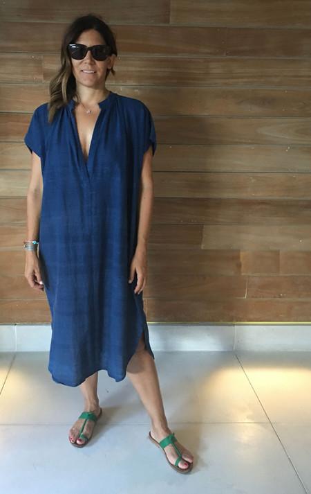 Two New! Indigo khadi cotton dress