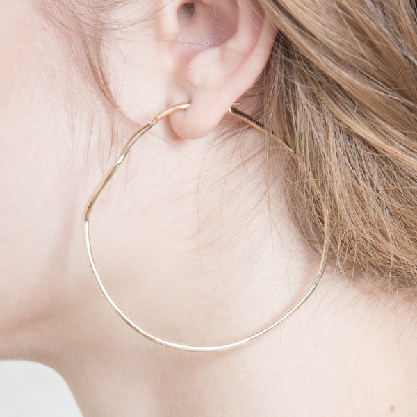 Shahla Karimi 14K Gold Subway Hoops - Inwood to World Trade Center