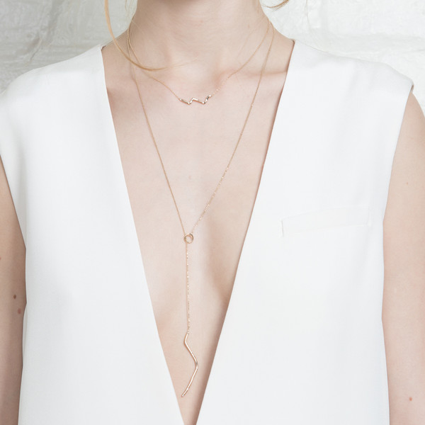 Shahla Karimi 14K Gold Subway Necklace - Upper West Side to Lower East Side