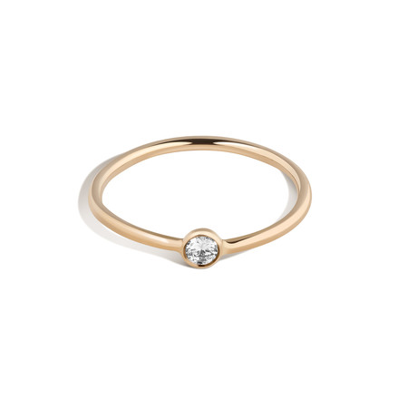 Shahla Karimi 14K Gold Subway Ring - Express Stop