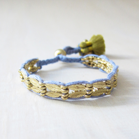 Bluma Project Chandi bracelet - steel/citron