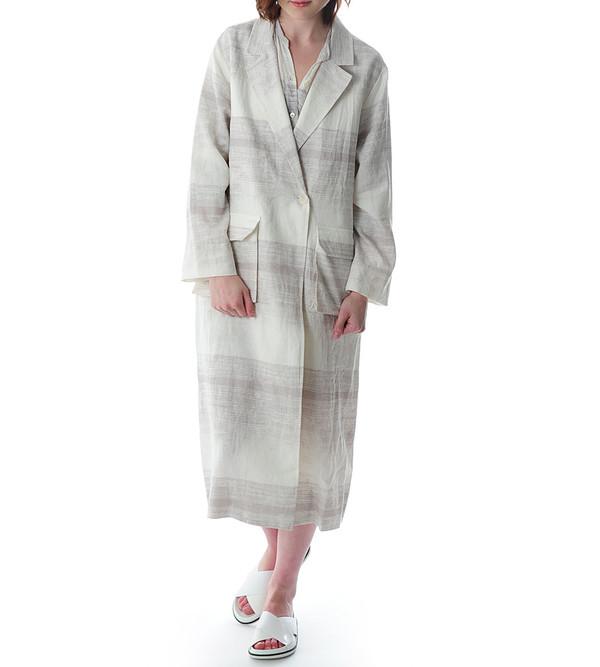 Raquel Allegra Printed Trench Coat