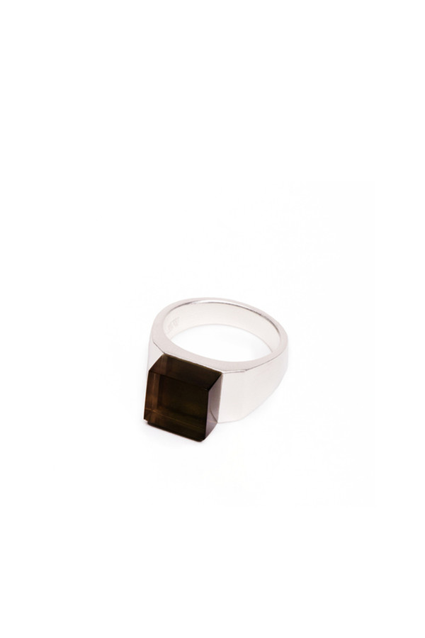 Ming Yu Wang Sterling Silver Pixel Block Ring