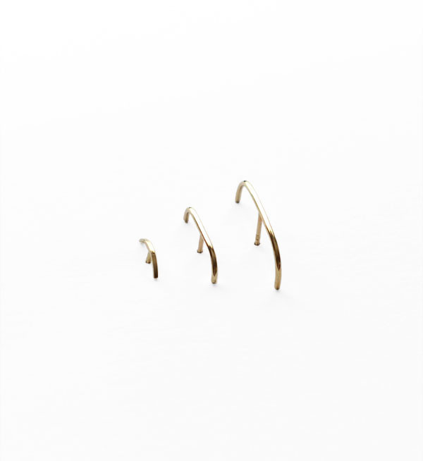 Kathleen Whitaker Gold Stitch Small Earring
