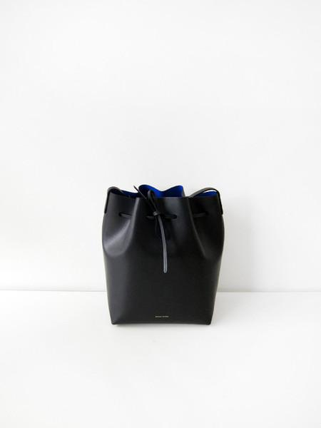 Mansur Gavriel Bucket Bag, Black/Royal