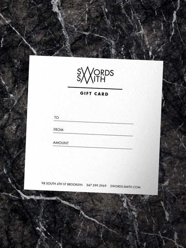 SWORDS-SMITH Gift Card