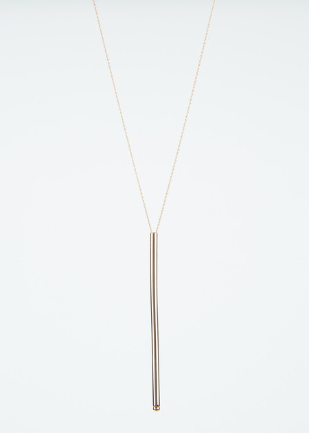 Ginette NY Long Straw Necklace