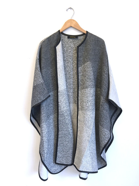 A Peace Treaty Handwoven Yilla Cape with Leather Trim