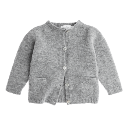 Kid's Tocoto Grey Knitted Jacket - CouCou Boston