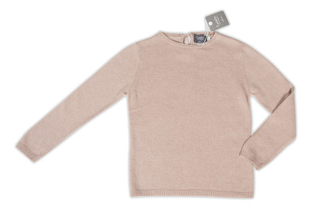 Kid's Tocoto Dusty Rose Knitted Jersey Sweater - CouCou Boston