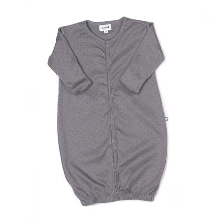 Kid's Oeuf Convertible Jumper in Charcoal with Hazelnut Dots - CouCou Boston