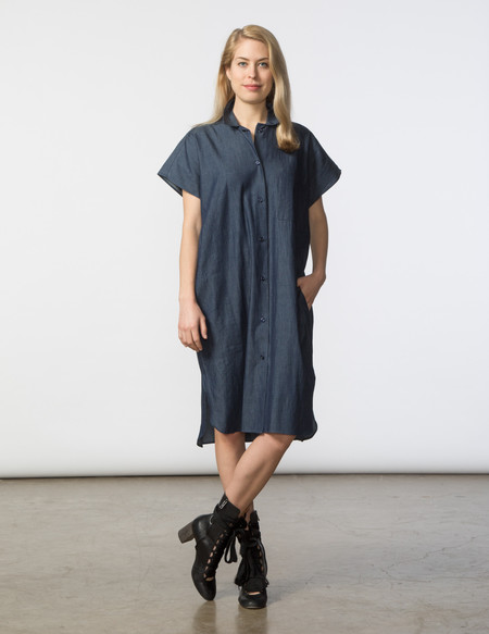 SBJ Austin R Dress - Dark Denim