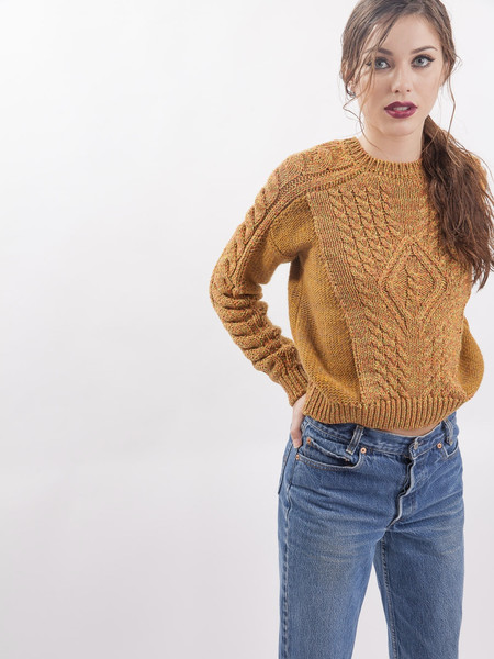 Nanushka Neon Cable Knit Sweater