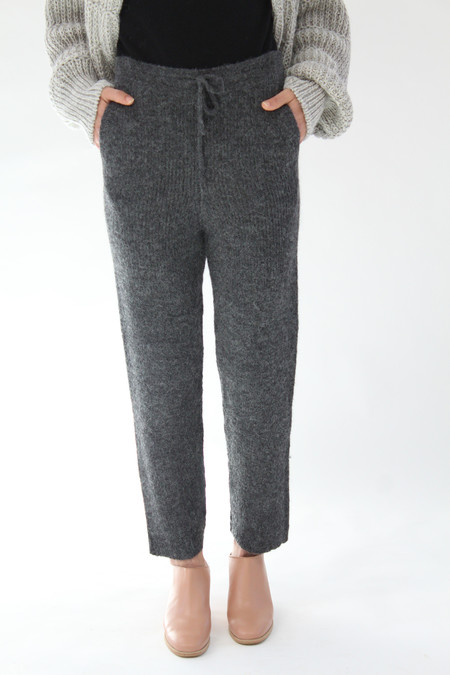 Micaela Greg Rib Sweats Grey