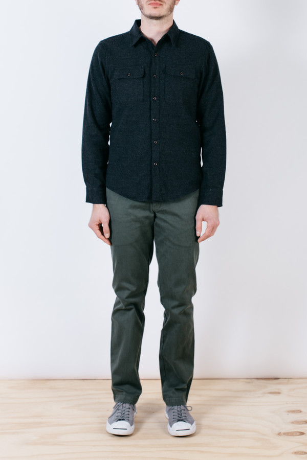 Men's Bridge & Burn Franklin Black Brushed Twill