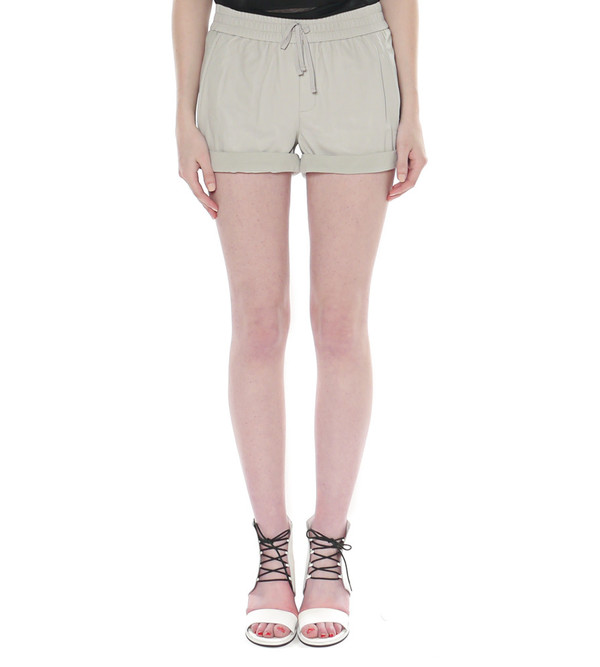 Helmut Lang Washed Leather Shorts