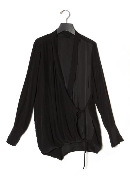 KES Kimono Silk Wrap Top