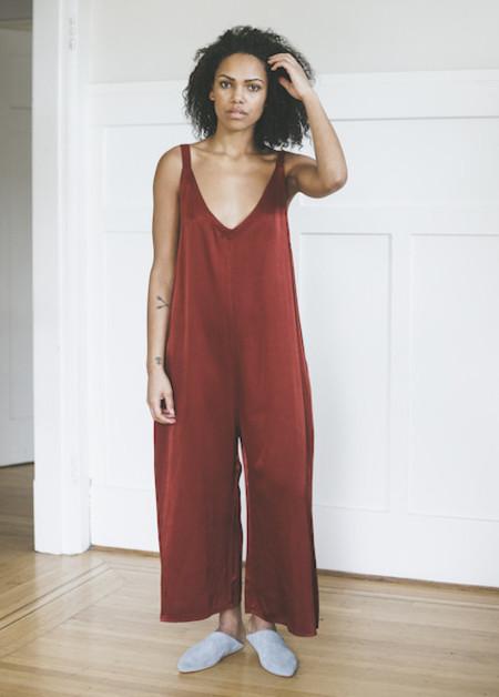 Lacausa - Santi Jumpsuit in Crimson