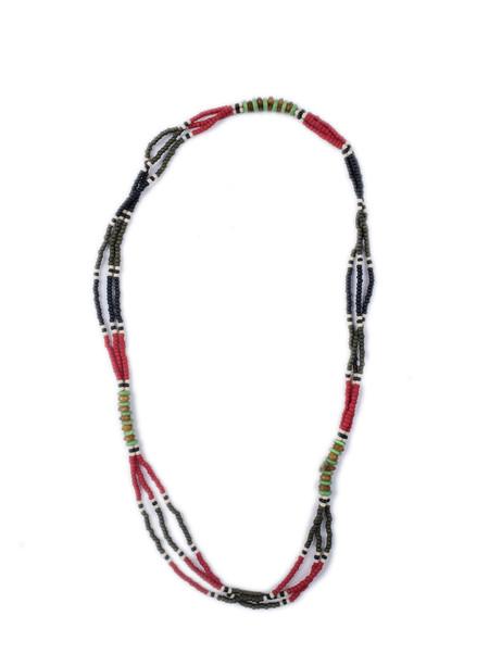 Men's Fortune Goods Montagnard Bead Necklace, R/BL/JD