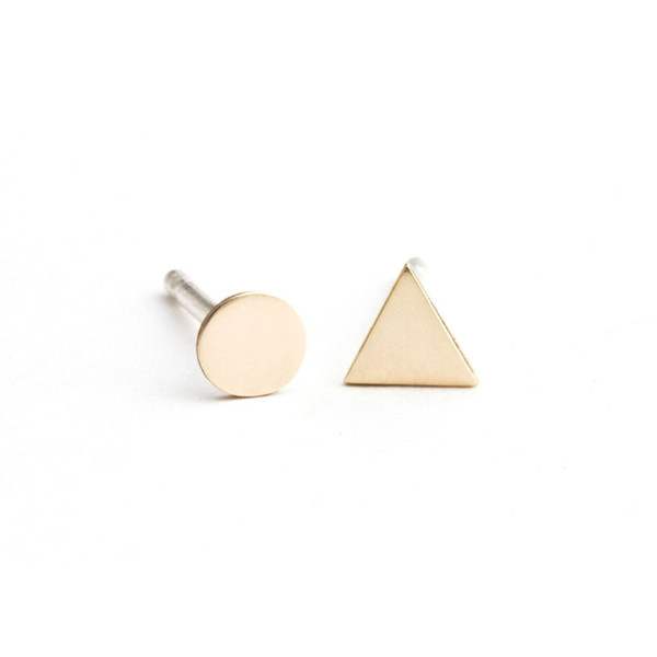 UMC - MINI TRIANGLE ET CERCLE BRONZE
